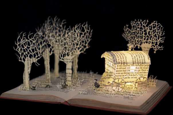 Danny Champion of the World book sculpture 2 web