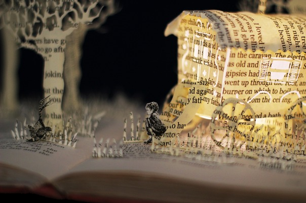 Danny Champion of the World book sculpture 3 web