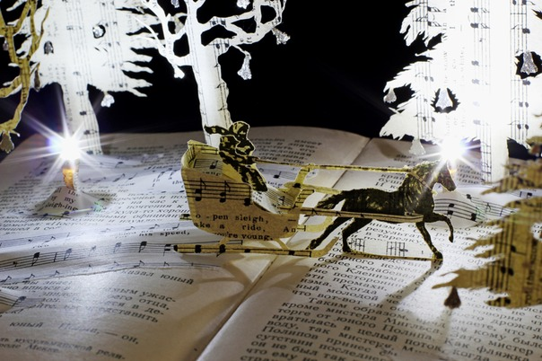 Jingle Bells book sculpture 3 web
