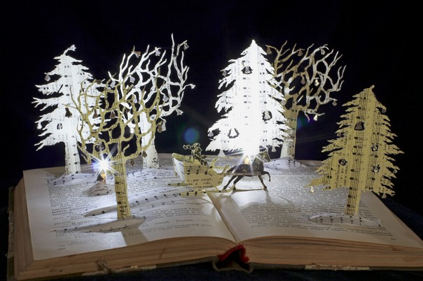 Jingle Bells book sculpture 2 web