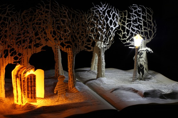 Meeting Mr Tumnus book sculpture 4 web