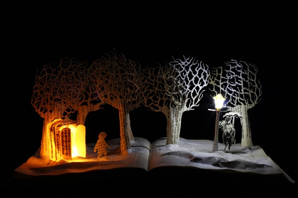 Meeting Mr Tumnus book sculpture 1 web