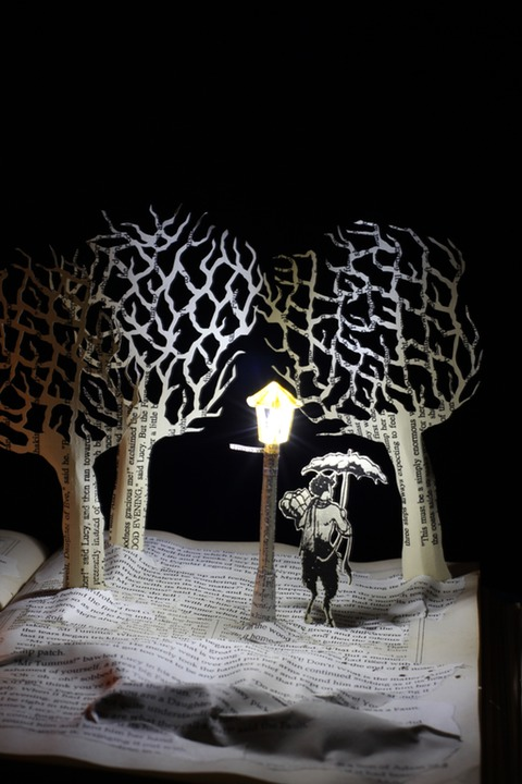Meeting Mr Tumnus book sculpture 3 web