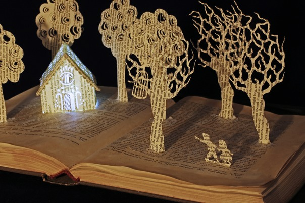 New Hansel and Gretel book sculpture 2 web