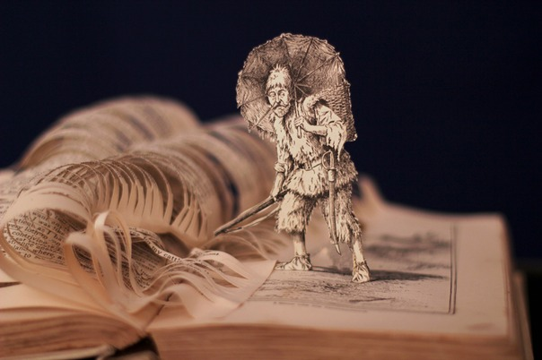 robinson crusoe book sculpture 3 web