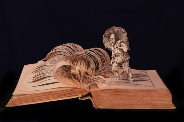 robinson crusoe book sculpture 1 web