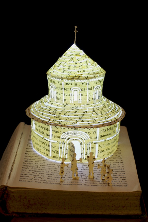 Round Church book sculpture 3 web