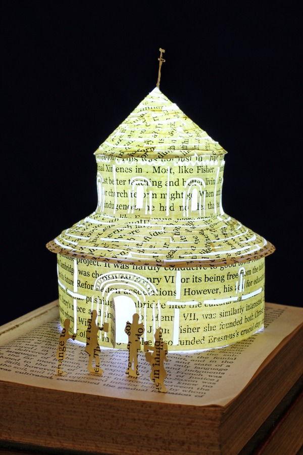 Round Church book sculpture 2 web