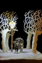 Tumnus and Lucy Narnia book sculpture 3 web