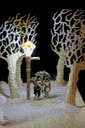 Tumnus and Lucy Narnia book sculpture 4 web