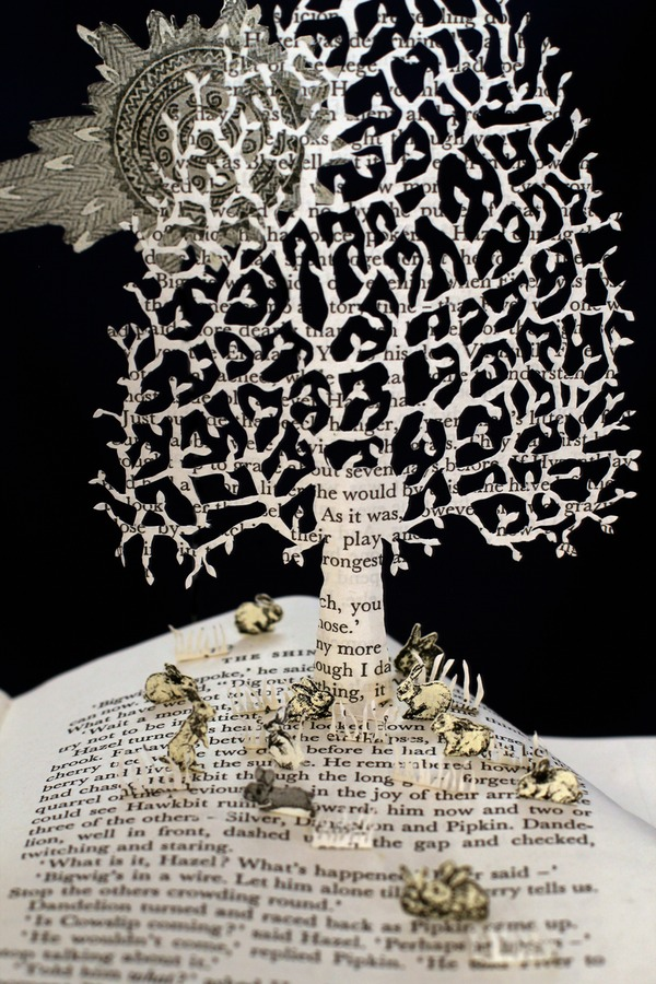 Watership Down book sculpture 3 web