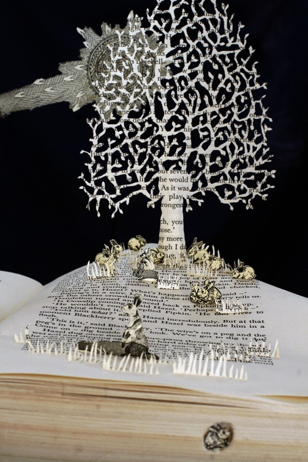 Watership Down book sculpture 2 web